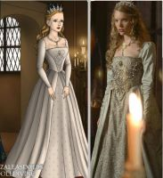 Katherine Howard's Silver Gown by msbrit90