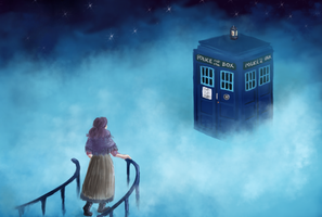 TARDIS on Cloud by Elyonlover