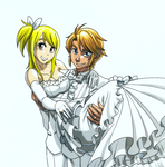 LinkHelios234's request - Link Lucy Wedding by sonicsama