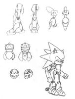 A few Robot Sketches by Wakeangel2001