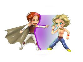 Chibis 2 - Alaric and Evander by alisonjohnsonfox