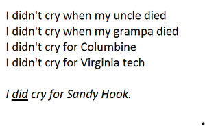 My Tribute to Sandy Hook Elementary by washedinhisblood