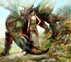 dragon rider by Flockhart