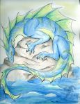 Water dragon by felineflames