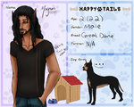 HappyTails App: Magnus Dane by TheAwesomeTrina