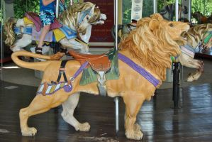 Lion carousel stock 2 by KEArnold