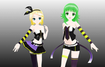 Lat LUVORATORRRRRY! Gumi and Rin(DL) by SirKnightThomas
