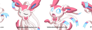 Pokemon: Sylveon supplemental expressions by LuLuLunaBuna