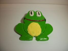 Frog Pin by QueenAliceOfAwesome