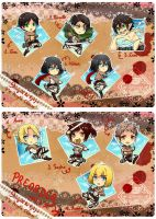 Shingeki no Kyojin Acrylic charm AVAILABLE by Eternal-S