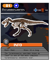 Meso Series No. 01: Tyrannosaurus (Alt. Costume 2) by ThePastHappened
