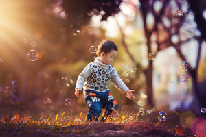 Play with bubbles by yushui