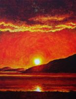 Ullapool Sunset by pmoodie