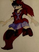 KAGUYA RED WOLF FULL COLORED DARK COLOR by tifa005111