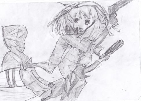 Drawing #10 Haruhi Devil May cry by LeonBrony