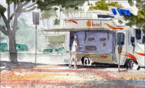 Lunch Truck watercolor by PiratoLoco