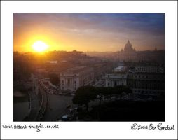sunset in rome by bexai