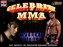Celebrity MMA Overeem Vs Bieber by 1492ANDIBLAIR
