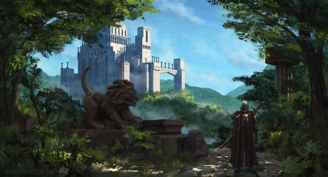 Way to the Distant Castle by arenirart