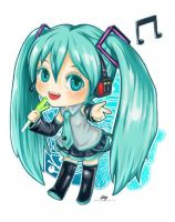 Chibi version: Hatsune Miku by Rabbit-Edge
