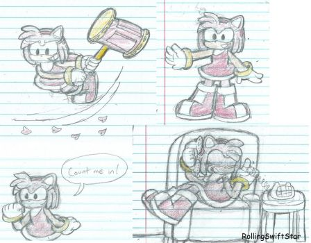 Amy Rose doodles by RollingSwiftStar