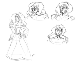 Elven Wench Concept Sheet by feathersRuffled