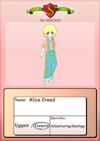 Student Sheet Application: Alice by Venex123