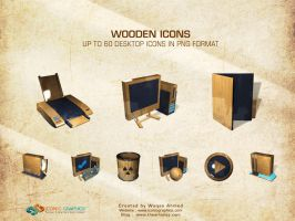 Wooden Icons by themerboy
