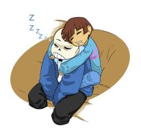 Napping with Sans by S-Brucket
