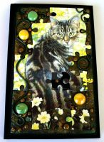 Tabby Cat Puzzle Blank Book by MandarinMoon