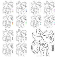 MY LITTLE PONY PIXEL PALLET ADOPTS by AChan-Adopts