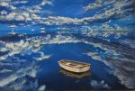 Boat On Blue by LuthienneTinuvielle