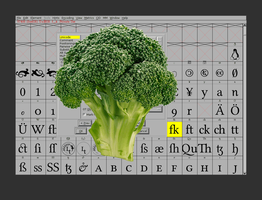 FontForge and the Broccoli by ecto-plazm