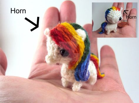 Mini Rainbow Unicorn Amigurumi by altearithe