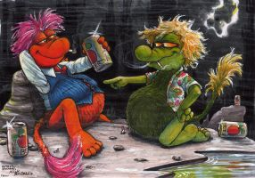Dirty, Filthy, Rotten, Bloated Fraggles by Phraggle