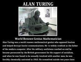 Alan Turing by Valendale