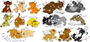 lion cub adopts (2 left 2 points each) by xWolfObsessionx