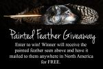 Wolf Painting on Feather - Free Giveaway! by LuxDani