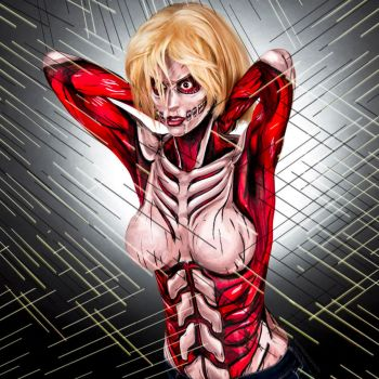 Annie aka Female Titan Bodypaint by KayPikeFashion