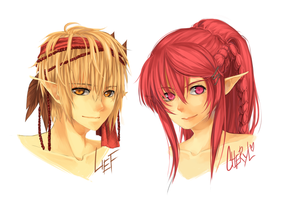 Headshots - Cher and Lief by c-r-y-s