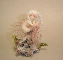 Albino Lionfish mermaid by Fairiesworkshop