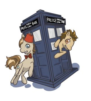the doctor as little pony by calciumandsugar