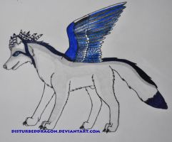 Sylverwings Art Trade - Side View by disturbeddragon