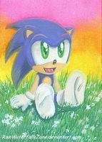 ACEO Baby Sonic by RainWaterfallsZone