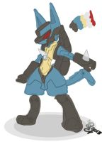Cyber Lucario (Base Color) by IqbalPutra