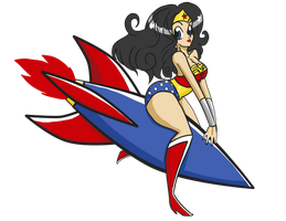 Pin Up Wonder Womantransp by RenaInnocenti