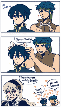 Meow Marth by dottedclouds