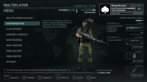 Soldier Game Interface Test by Poser96