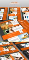 The Orange  Blog and Magazine PSD Template by CreativeCrunk