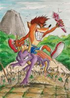 Crash and Spyro: All Grown Up by SoulEaterSaku90